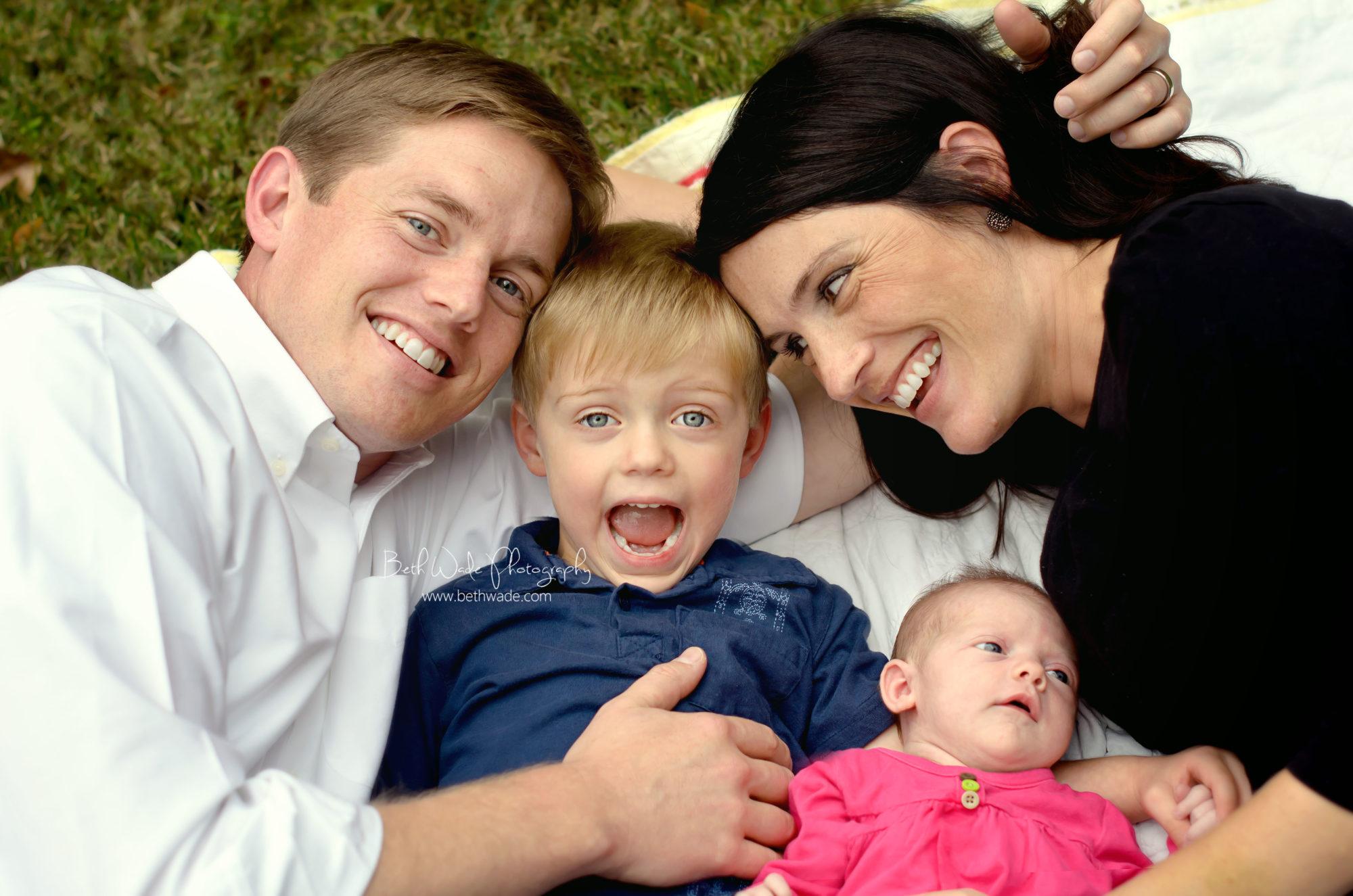 newborn family of 4 {charlotte newborn photographer}