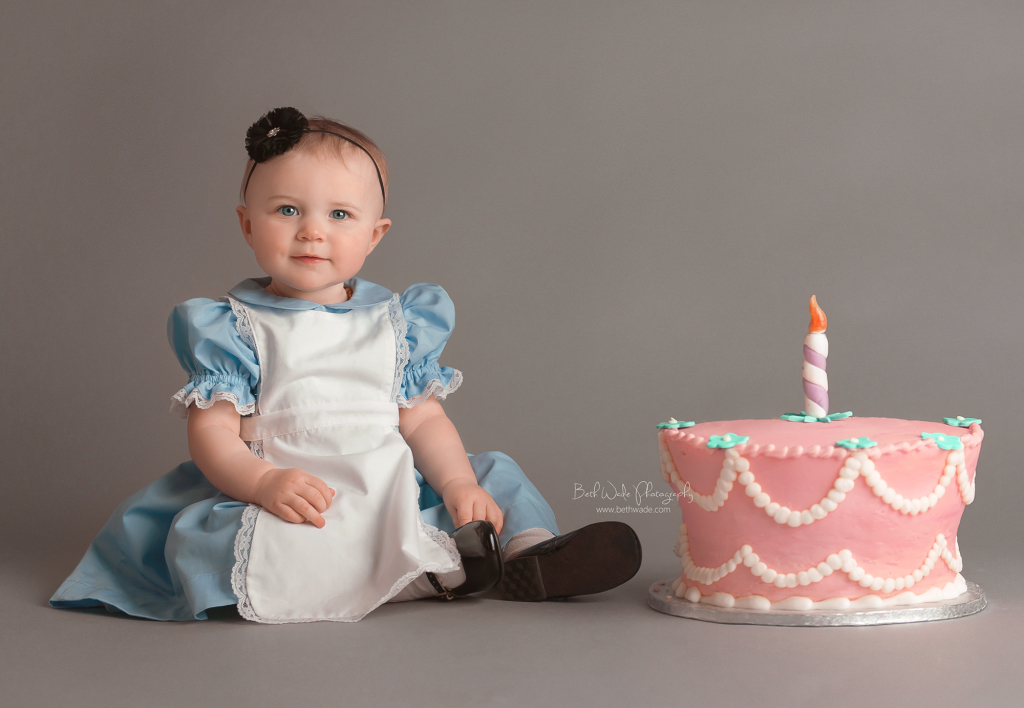 alice jane in ONEderland party ~ our girl is 1 year old  {lake wylie baby photos}