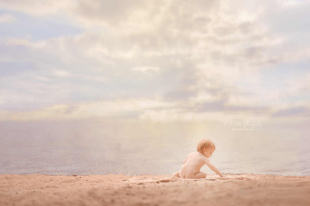 beach, balloons and cake ~ baby E turns 1! {lake wylie child photographer}
