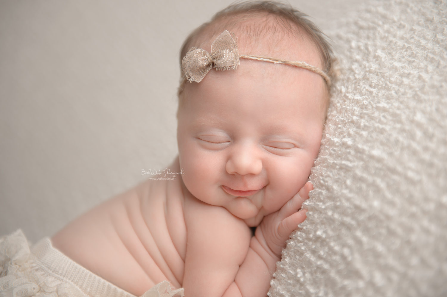 smiley 14 day old baby girl  {lake wylie newborn photographer}