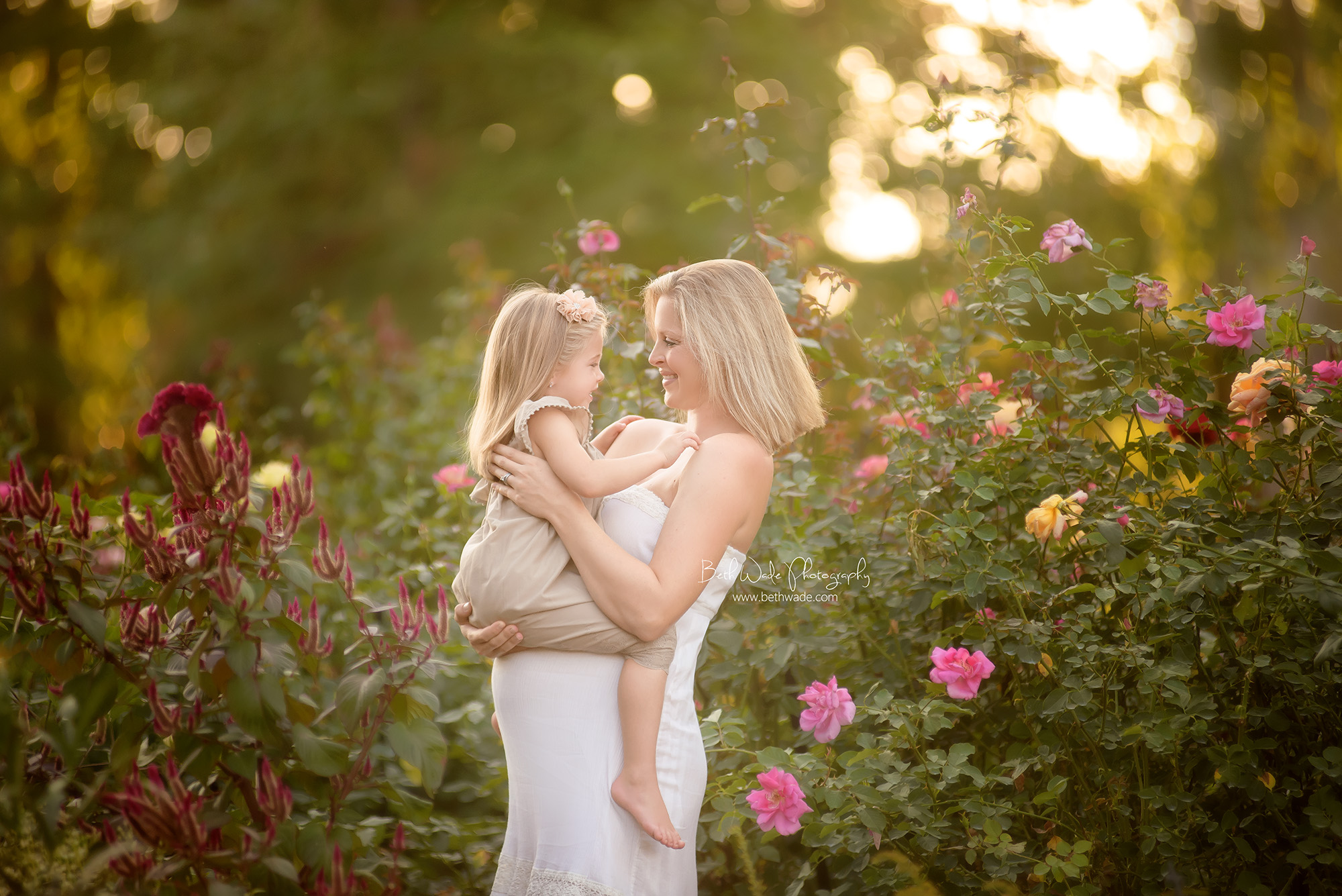 glowing pregnancy ~ mother daughter rose garden shoot {charlotte maternity photographer}