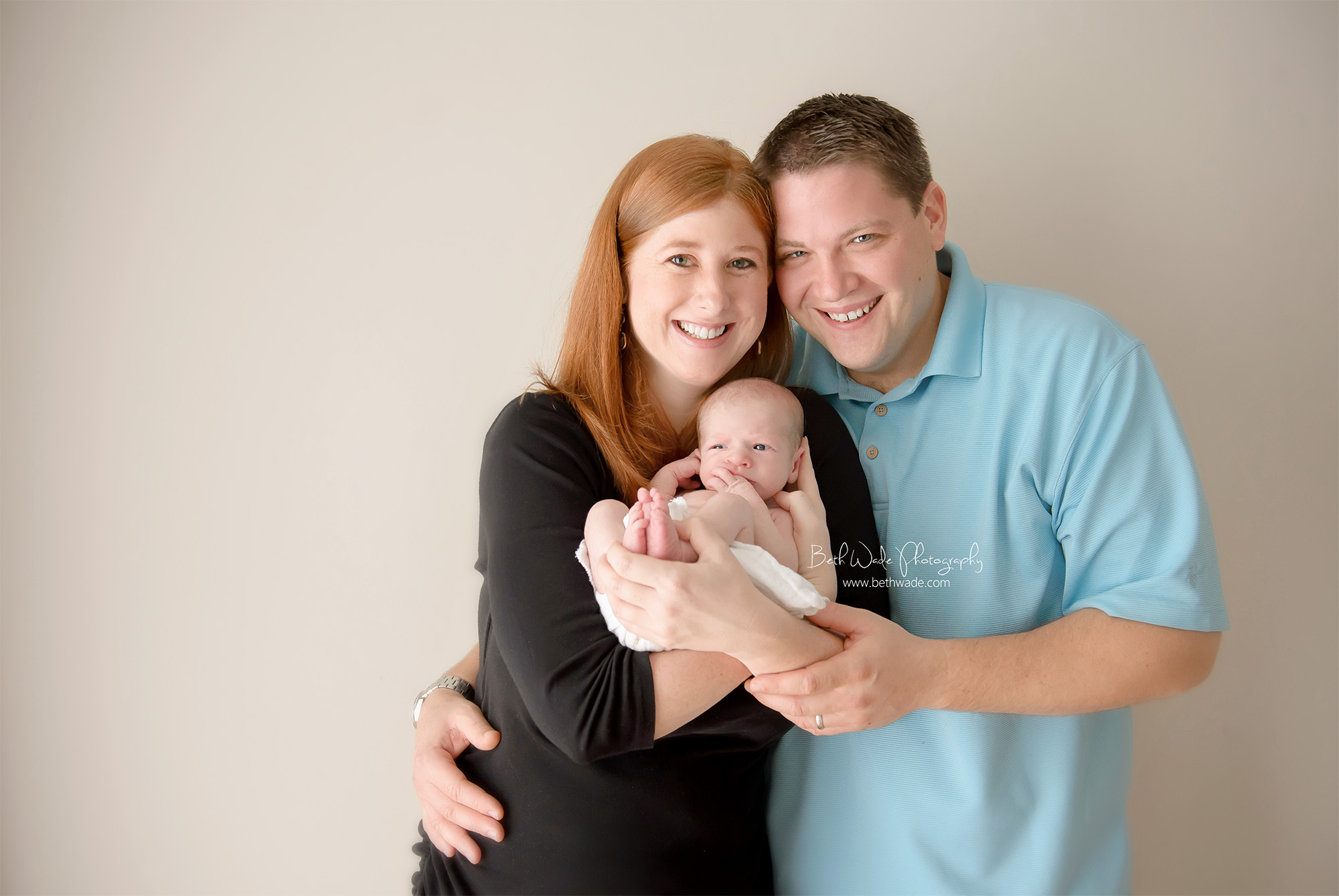 16 day old baby boy ~ family of 3 {south charlotte newborn photographer}