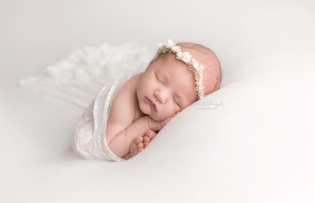 happy new year ~ baby girl 8 days old  {charlotte newborn photography}