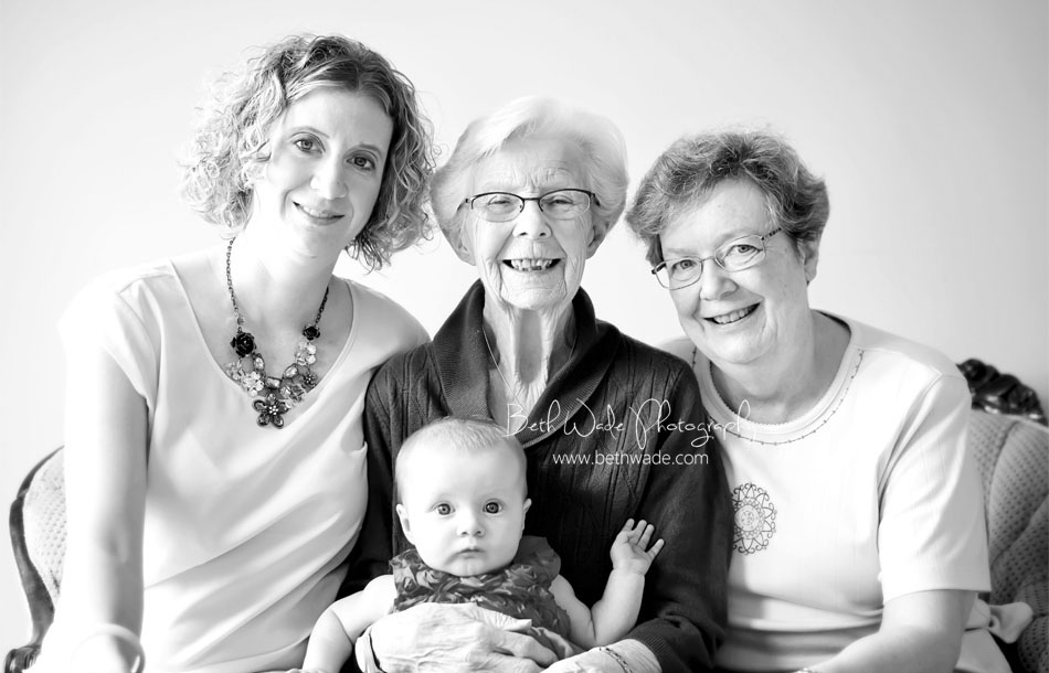 6 month baby girl  {4 generations of women} charlotte family photographer