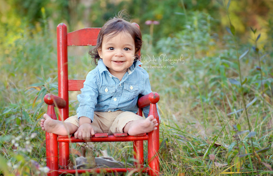 6 month old baby boy ~ family of 3 {charlotte kid photographer}