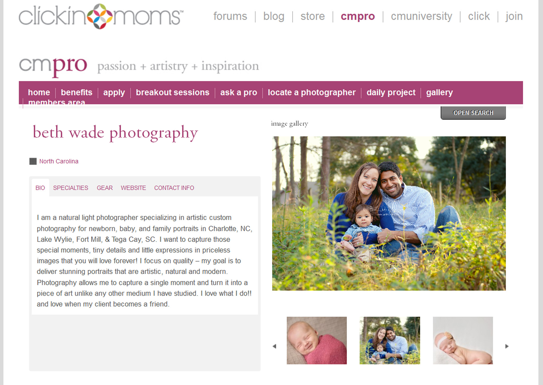 CMPro…accepted! {charlotte professional photographer}