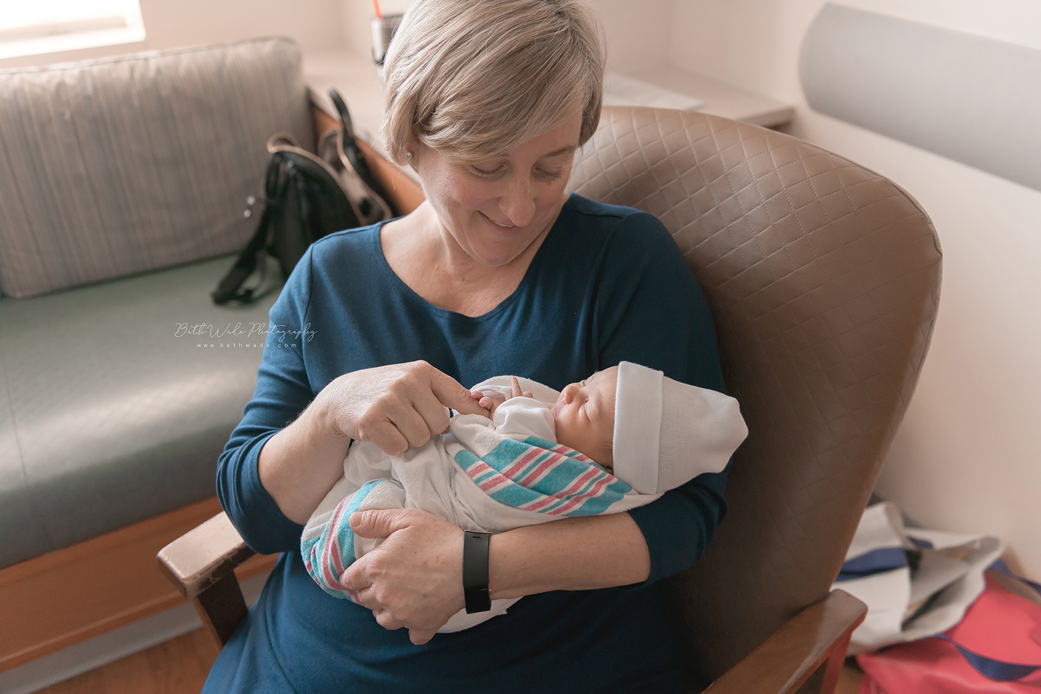 48 hour old baby girl video {presbyterian charlotte new born photos}