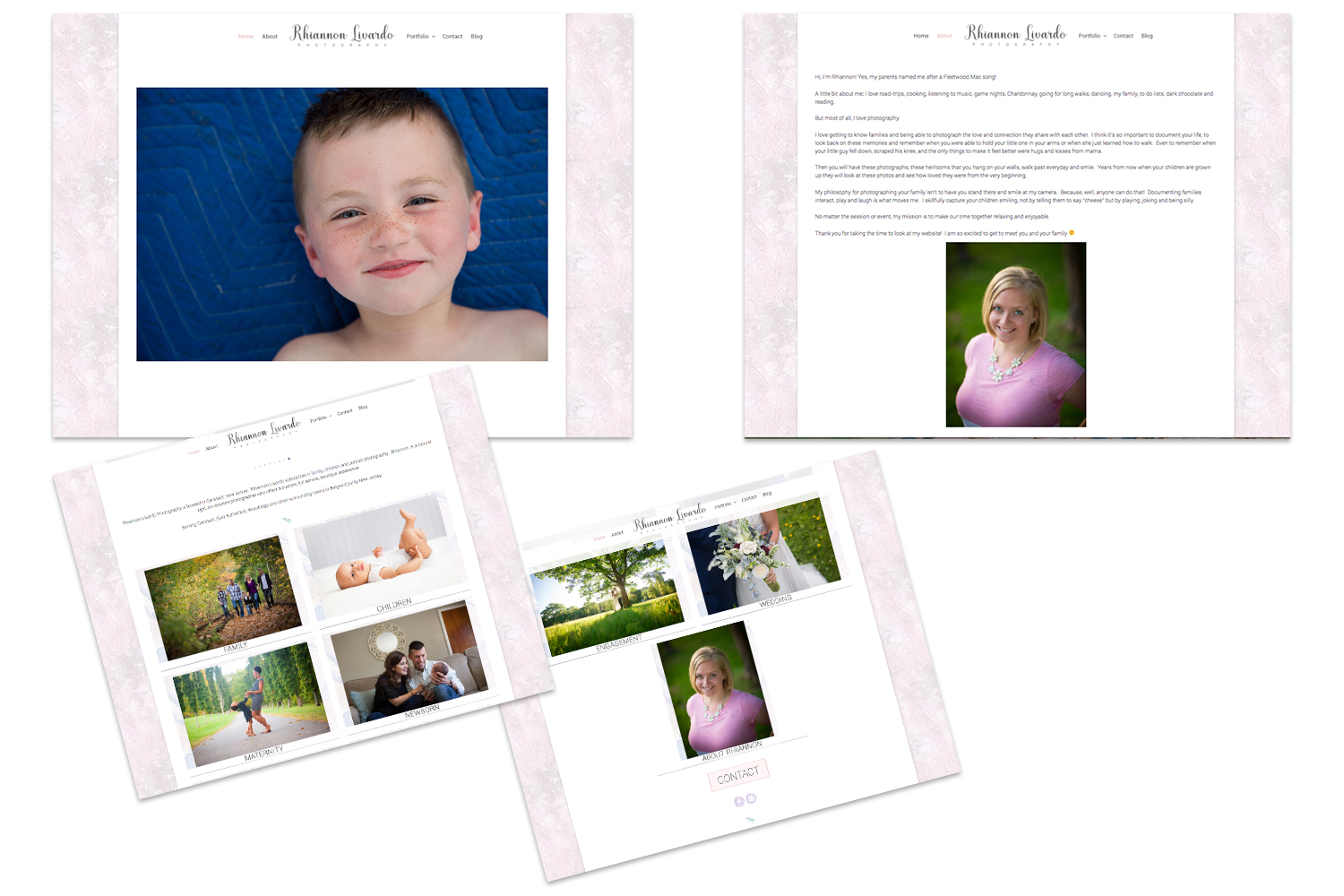 brand refresh+website design : rhiannon livardo {beth wade photography charlotte}