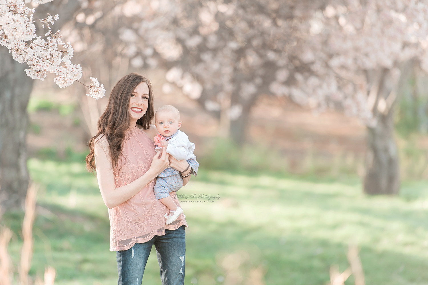 6 month old little springtime lady {charlotte baby photographer}